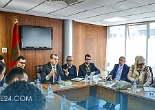 بعثة من الشباب المغربي في إسبانيا في زيارة لمجلس الجالية المغربية بالخارج