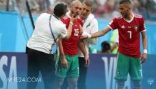 امرابط يتدرب رفقة الأسود استعدادا لمباراة البرتغال