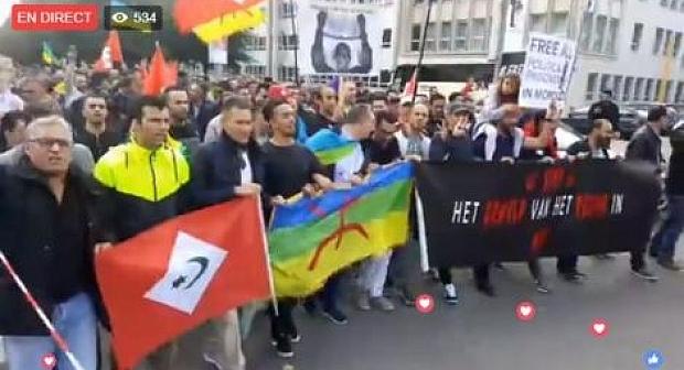 """بروكسيل: مغاربة المهجر يطالبون بوقف """"المحاكمات السياسية"""" وبالإفراج عن معتقلي الحراك"""