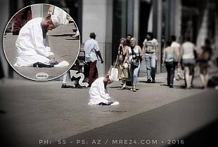 نموذج لخوانجي في بروكسيل (عاقوا به فالمساجد قلبها للشارع)