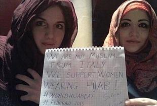 بنات ايطاليات تكتبن: نحن لسنا مسلمات لكنّنا ندعم النساء اللائي تلبسن الحجاب