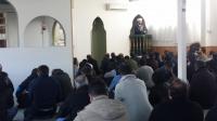 مدينة اسكلستونا : حفل بمناسبة حل ازمة وقف المسجد وتسليمه للادارة الجديدة