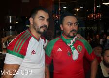 فرحة عارمة في أوساط الجالية المغربية ببروكسيل عقب تأهل المنتخب الوطني لكأس العالم