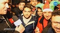 فرحة لمغاربة في بلجيكا بفوزالمنتخب الوطني 1